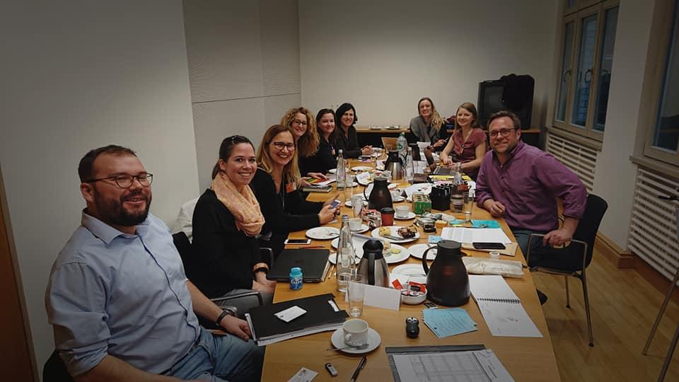 Part of the SISA team at a meeting in Berlin